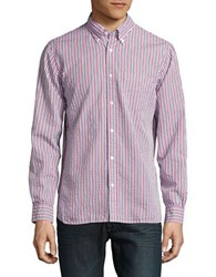 Brooks Brothers Striped Sportshirt Red
