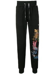 Philipp Plein Jungle Track Trousers Black