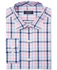 Club Room Men's Classic Regular Fit Performance Multi Gingham Dress Shirt Created For Macy's Pink White