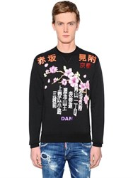 Dsquared Japanese Printed Cotton Sweatshirt