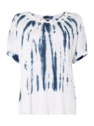 Label Lab Tie Dye Yoke Tee White