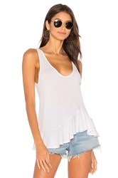 Riller And Fount Dez Ruffled Tank White