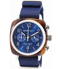 Briston 15140.Sa.T.9.Nnb Clubmaster Classic Acetate And Canvas Chronograph Watch