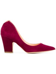 Rupert Sanderson Cicely Pumps Suede Leather Red