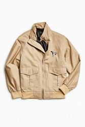 Barney Cools Embroidered Flight Jacket Tan