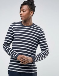 Selected Homme Long Sleeve O Neck Top Navy