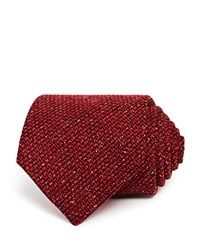 Turnbull And Asser Textured Solid Classic Tie Rust