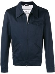 Ami Alexandre Mattiussi Zipped Jacket Blue