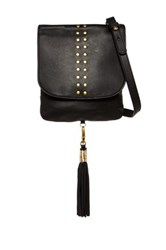 Cynthia Vincent Ember Leather Crossbody Black