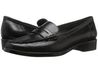 Aerosoles Main Dish Black Leather Women's Slip On Dress Shoes