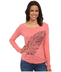 Rock And Roll Cowgirl Long Sleeve T Shirt 48T4248 Coral Women's T Shirt