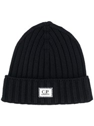 C.P. Company Cp Cable Knit Beanie Blue