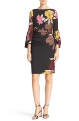 Tracy Reese Women's 'T' Flounce Sleeve Floral Print Dress