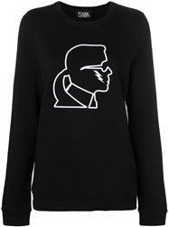 Karl Lagerfeld Lightning Bolt Sweatshirt Black