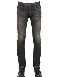Balmain 18Cm Washed Denim Rear Twisted Leg Jeans