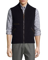 Billy Reid Perry Wool Blend Vest Navy Men's
