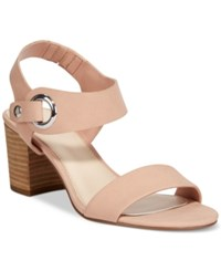 Bar Iii Birdie City Two Piece Block Heel Sandals Only At Macy's Women's Shoes Blush