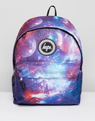Hype Backpack In Navy Space Print Navy Blue