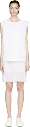 Each X Other White Layered Sleeveless Dress