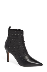 Linea Paolo Nara Studded Bootie Black Leather