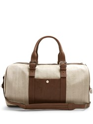 Brunello Cucinelli Canvas And Leather Holdall Brown Multi
