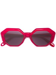 Garrett Leight Jacqueline Sunglasses Red