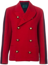 Jean Paul Gaultier Vintage 'Junior Gaultier' Double Breasted Peacoat Red