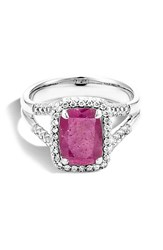 John Hardy Women's Batu Diamond Ring Indian Ruby