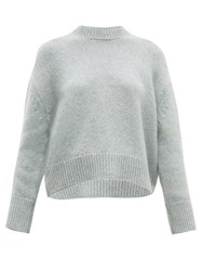 Brock Collection Cropped Round Neck Cashmere Sweater Grey