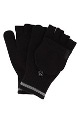 Men's A. Kurtz 'Deck' Convertible Knit Gloves Black