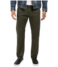 Dockers Washed Khaki Slim Tapered Olive 1 Men's Casual Pants