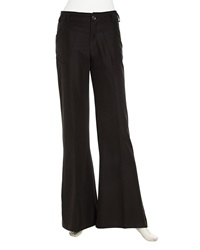 Stella And Jamie Relaxed Wide Leg Crepe Pants Black