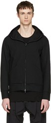 Attachment Black Waterproof Hooded Zip Up Pullover
