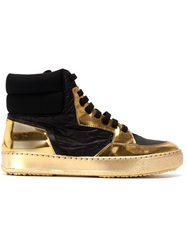 Bruno Bordese Hi Top Metallic Sneakers Black