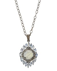 Bavna Rainbow Moonstone Pendant Necklace