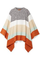 Missoni Striped Wool Poncho Beige