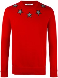 Givenchy Star Applique Jumper Red