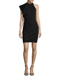 Design Lab Lord And Taylor One Shoulder Bodycon Dress Black