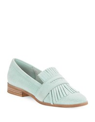 Seychelles Stray Fringed Loafers Light Blue