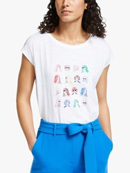 Boden Robyn T Shirt White Chit Chat