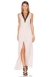 Bcbgmaxazria Lace Front Maxi Dress Blush