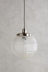 Anthropologie Frosted Facet Globe Pendant Antique Nickel