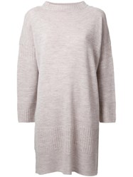 Theatre Products Longsleeved Shift Knit Dress Brown