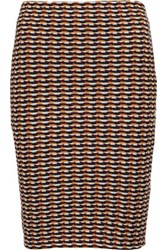 Opening Ceremony Check Jacquard Knit Mini Skirt Orange