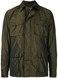 Sealup Pocket Front Shirt Jacket Brown