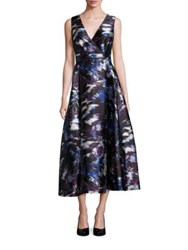 Lk Bennett Abstract Print Cocktail Dress