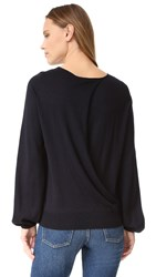 Elizabeth And James Georgia Cuff Split Back Sweater Midnight