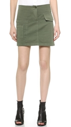 Band Of Outsiders Cargo Miniskirt Army Green