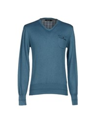 Junk De Luxe Knitwear Jumpers Men Pastel Blue