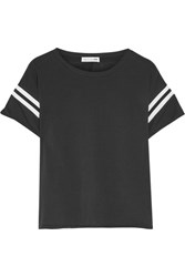 Rag And Bone Vintage Striped Cotton Jersey T Shirt Black